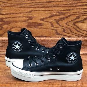 Converse CTAS Platform Hi Black Egret Shoes